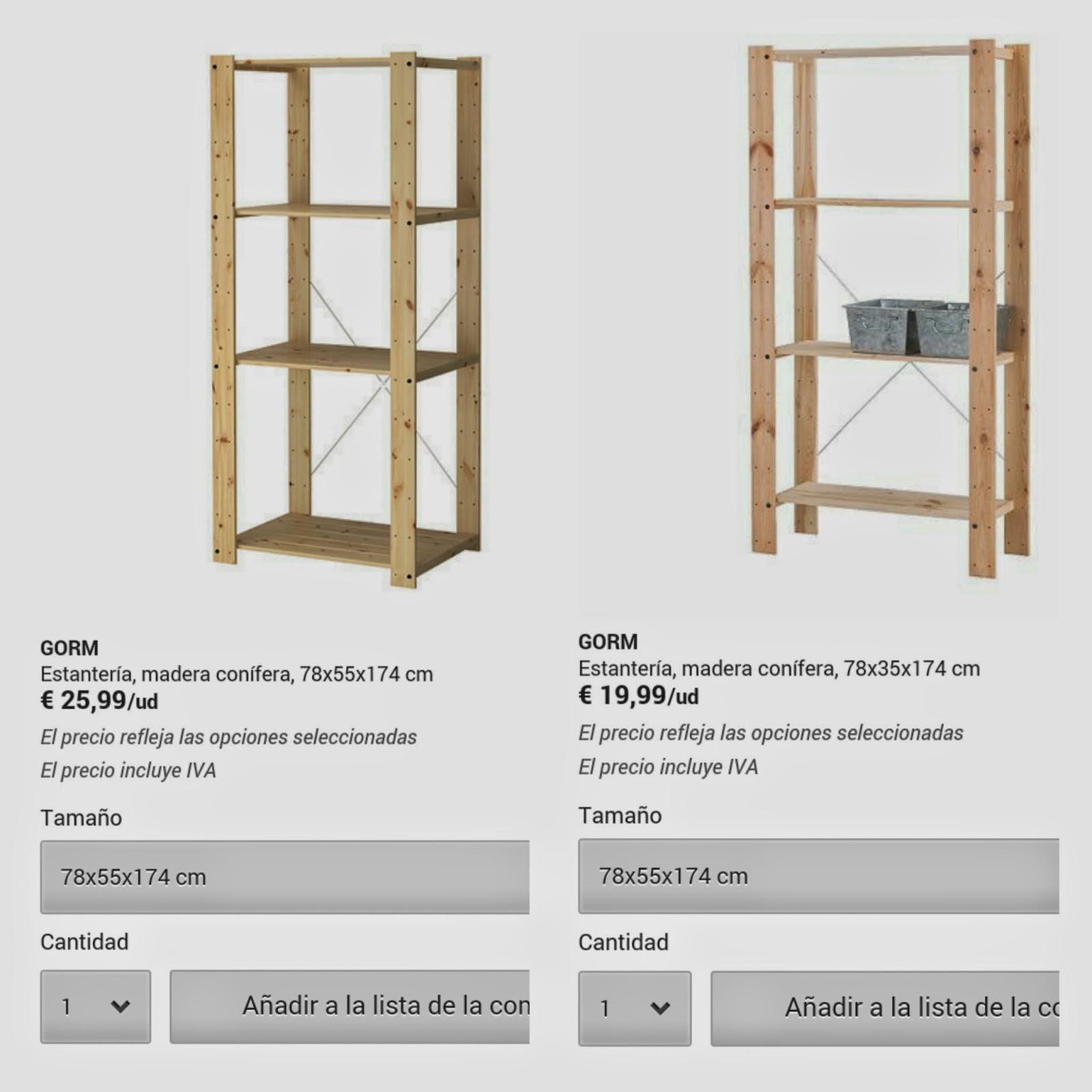 Estanteria de madera ikea great ikeaps estantera de for Ikea puertas para estanterias